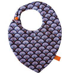 Bavoir bandana - Gros pois Petits points - Artisanat textile français