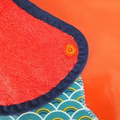 Bavoir toile cirée - Gros pois Petits points - Artisanat textile français