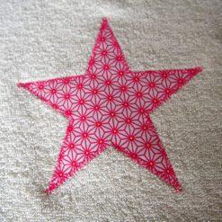 Grand bavoir éponge - Gros pois Petits points - Artisanat textile français