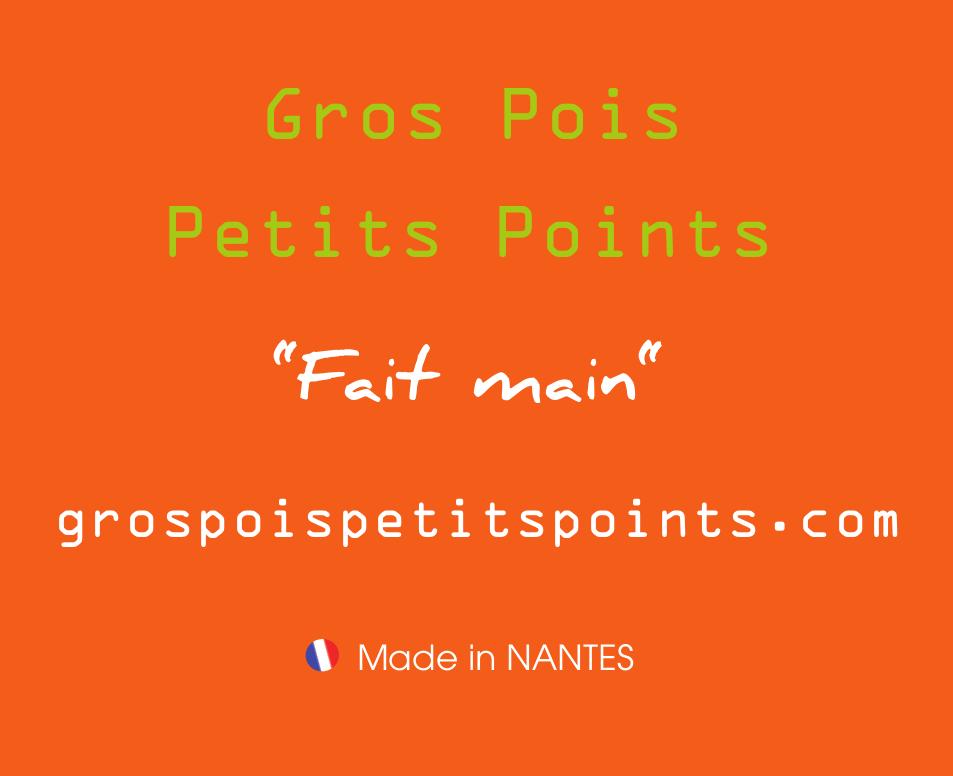 Gros poir Petits points - Logo carré