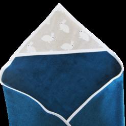 Cape de bain - Gros pois Petits points - Artisanat textile français