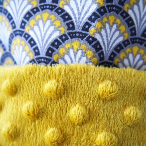 Snood tour de cou - Gros pois Petits points - Artisanat textile français