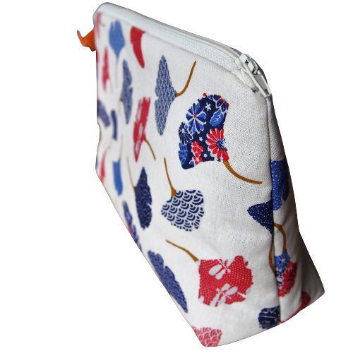 Trousse de toilette - Gros pois Petits points - Artisanat textile français